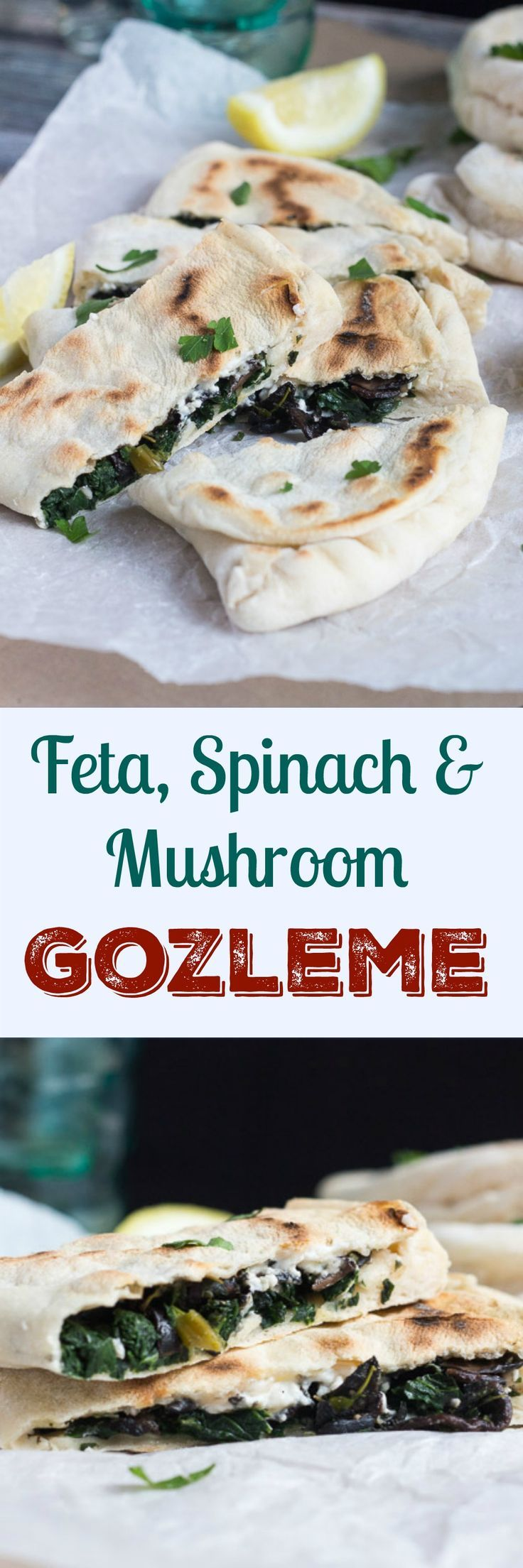 Feta, Spinach and Mushroom Gozleme. With a few basics on hand, these come…
