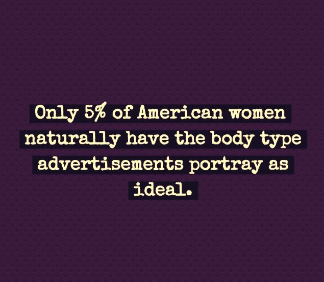 The body types presented on social media platforms such as advertisements and magazines do not portray the average American woman accurately. #stopbodyshaming