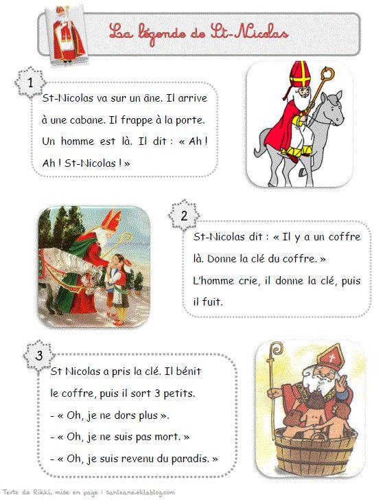 Autour de Saint-Nicolas - Le petit cartable de Sanleane