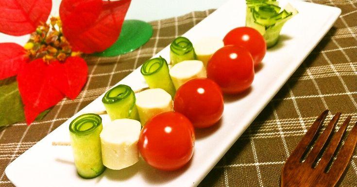 おもてなしXmasに♡三色の一口サラダ by *とみこ* 【クックパッド】 簡単おいしいみんなのレシピが279万品
