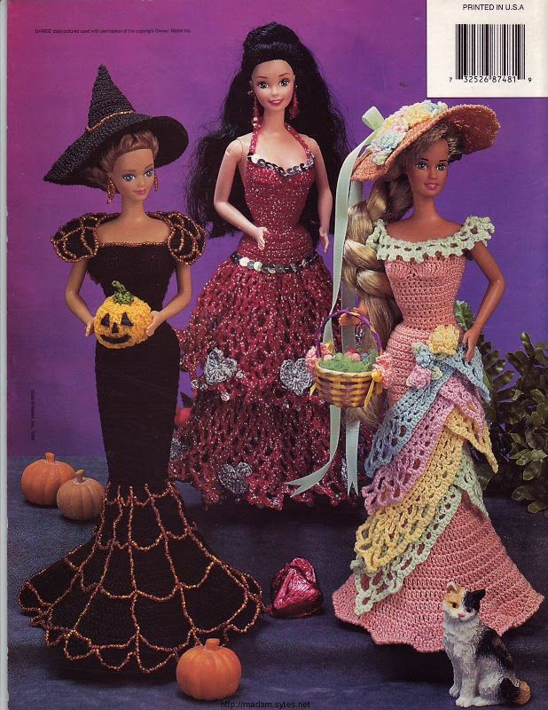 Barbie, Fashion Doll, CROCHET, HOLIDAY COSTUMES 2 pattern, http://knits4kids.com/collection-en/library/album-view?aid=5158