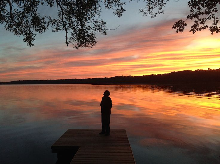 Sunset in Waupoos. - Photo thanks to Liz.