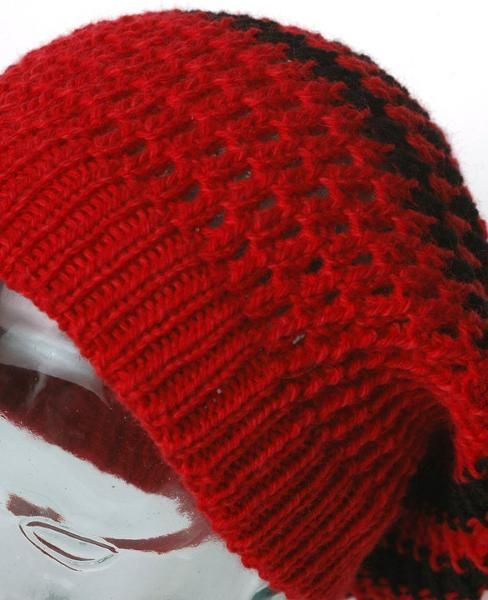 Knitting: Slouchy Ouroboros hat