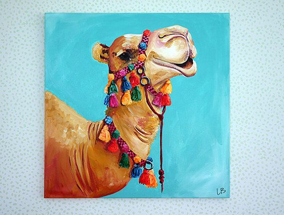 Camel Painting Camel Art 30x30 Art Camel with by LoganBerard