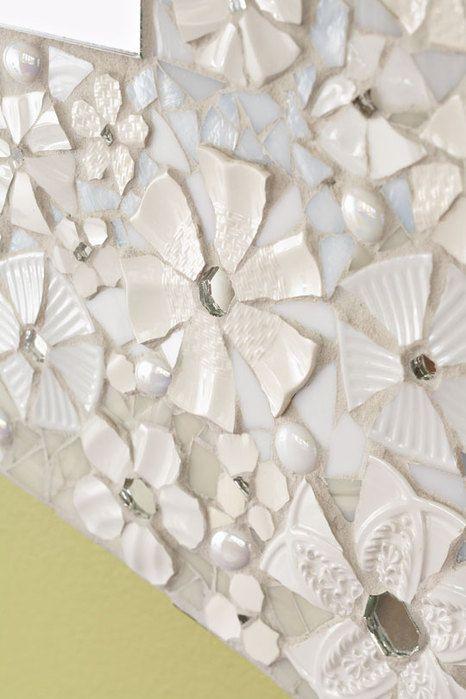 Мозаичное обрамление для зеркала своими руками ДекорБлог