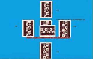 Cigánykártya tanfolyam: Ötágú cigánykártya kirakási mód