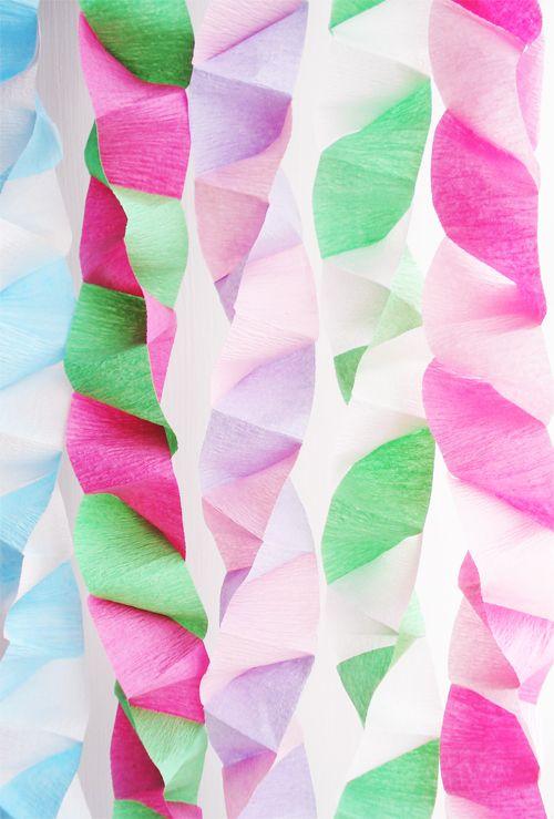 Box-folded Streamers I Such Pretty Things Blog