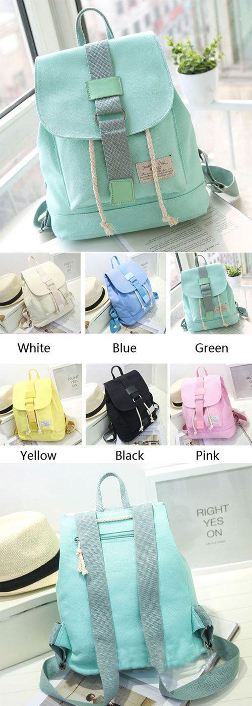Mint Green Backpack ! Super cute !!! Nice backpack for school day. #backpack #mint #green #college #school #bag #lady #cute