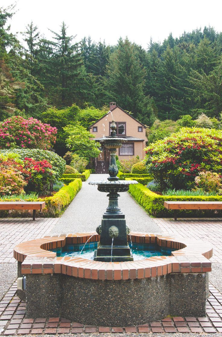 Garden house at Shores Acres State Park and list of 5 amazing stops along the Oregon Shore from @sweetphi: