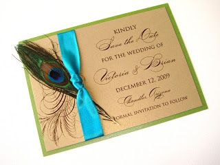 Embellished Paperie: Peacock Wedding!