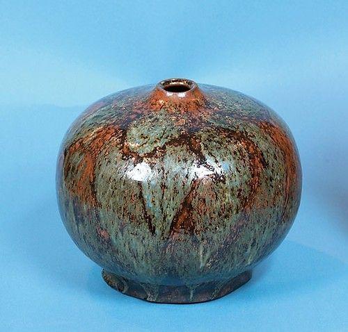 2419 Last ned høyoppløst bilde  Pløen, Erik (1925-2004) Vase  Glasert keramikk