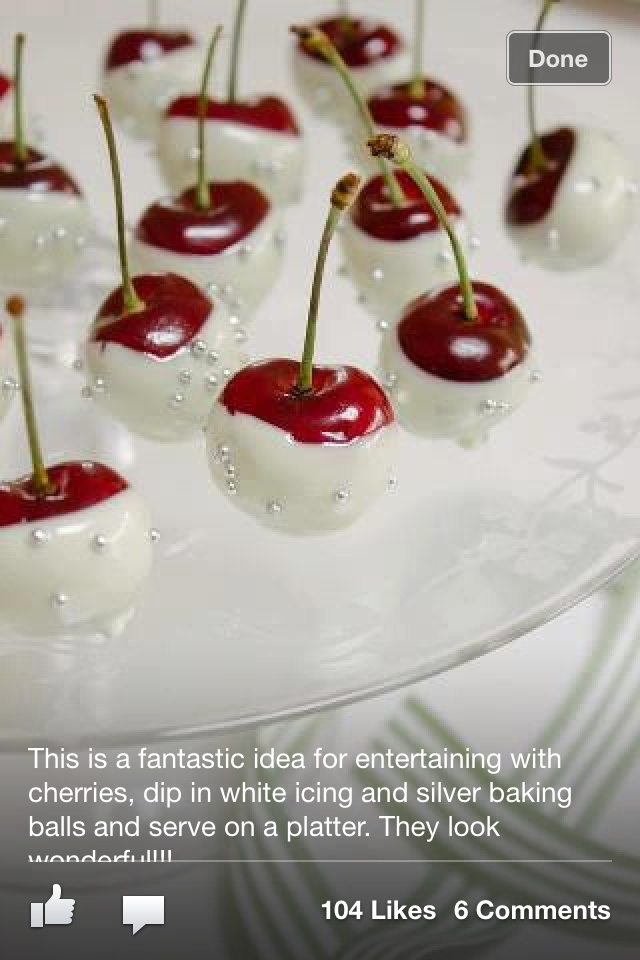 Fancy white chocolate covered cherries