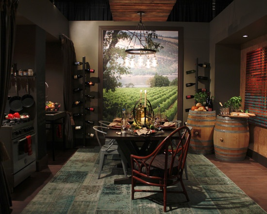 Wine cellar theme dining room home design pinterest for Wine themed dining room ideas