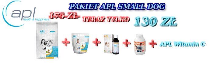 Pakiet APL Happy Small Dog - Sucha Karma APL Adult Small Dog 10 kg + 2 kg + suplementy teraz za jedyne 130 zł ! Zapraszamy na: http://apl-zoo.eu/pl/p/Pakiet-Happy-Small-Dog-1/176