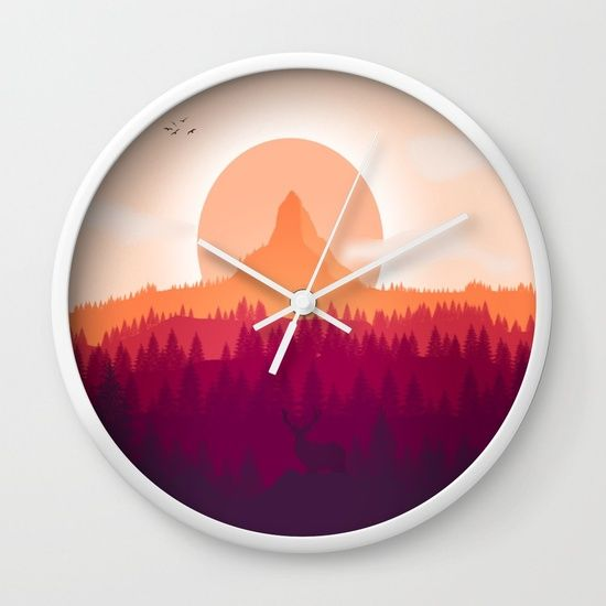 Can You See Deer In THe Art Wall Clock