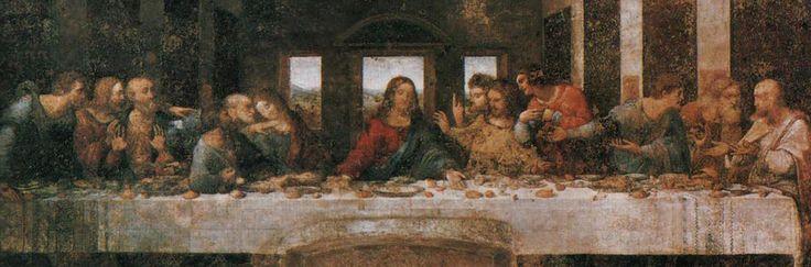 """Il Cenacolo Vinciano, l'Ultima Cena di Leonardo da Vinci si trova nel refettorio del convento domenicano annesso alla chiesa diSanta Maria delle Grazie.Dipinta tra il 1494 e il 1498 sotto la signoria di Ludovico il Moro, Leonardo, abbandonando il metodo tradizionale della pittura a fresco, raffigura la scena """"a secco"""" sulla parete del refettorio.   #Cenacolo Vinciano #L' Ultima Cena #Leonardo da Vinci #Milan Museum #Milano #Musei di Milano"""