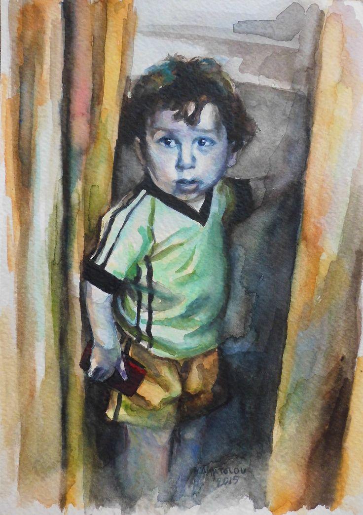 watercolor Vasiliki Dimtsiou  #child