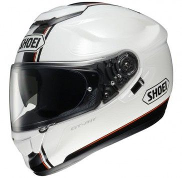 A big hit for Shoei, the GT Air motorcycle helmet in gloss white with black and red detailing is almost vintage looking with that modern twist - the Wanderer