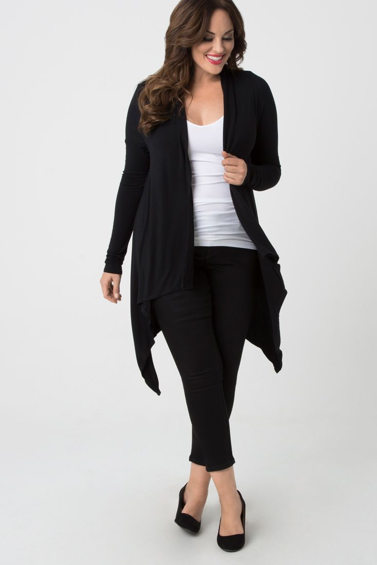 We're calling on comfort in our plus size Charisma Cardigan by Language of Love….