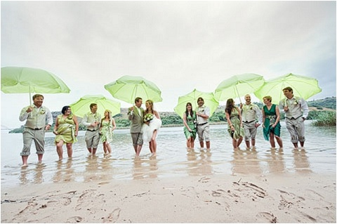 What a fun shot for beach wedding! Love the lime green umbrellas <3 #wedding #beach #photography #inspiration #lime #umbrellas