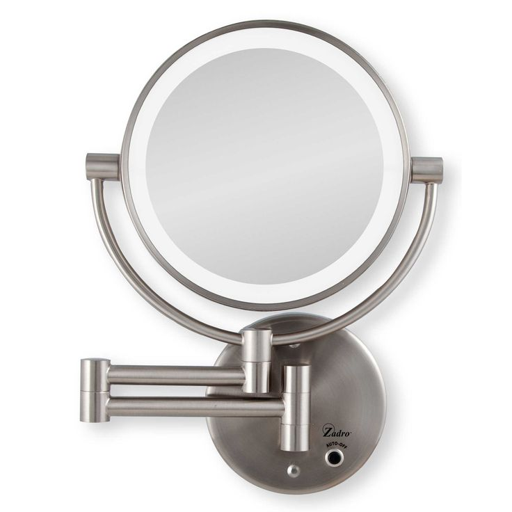 Zadro 10x 1x Cordless Led Lighted Wall Mirror Lighted