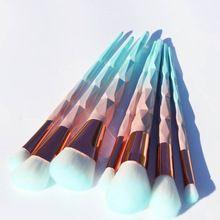 AiceBeu 7/10/12 pz diamante Unicorno Spazzole di Trucco Verde Macarons colore Del Viso Fondazione Spazzola Cosmetico di Trucco Kit(China)