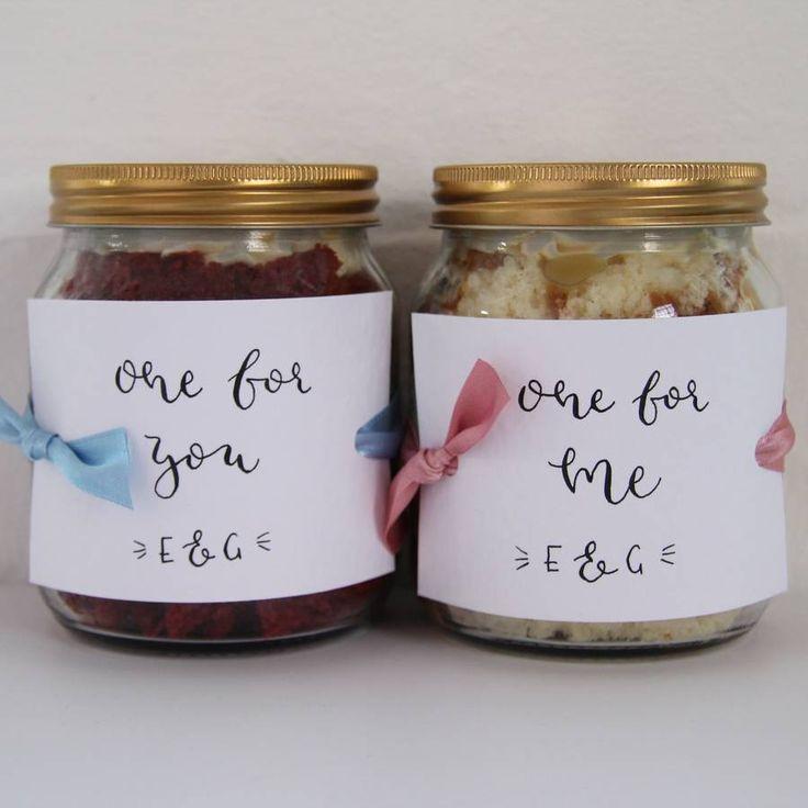 Personalised Set Of Two Cake Jars
