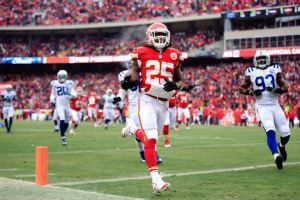 Jamaal Charles and Arthur Jones Out With High Ankle Sprains