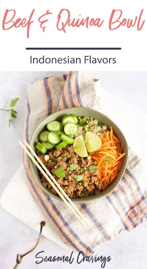 This Indonesian Beef And Quinoa Bowl Will Warm You Up Right Away The Beef Is Simmered In Coconut Milk With C Healthy Beef Recipes Recipes Good Healthy Recipes