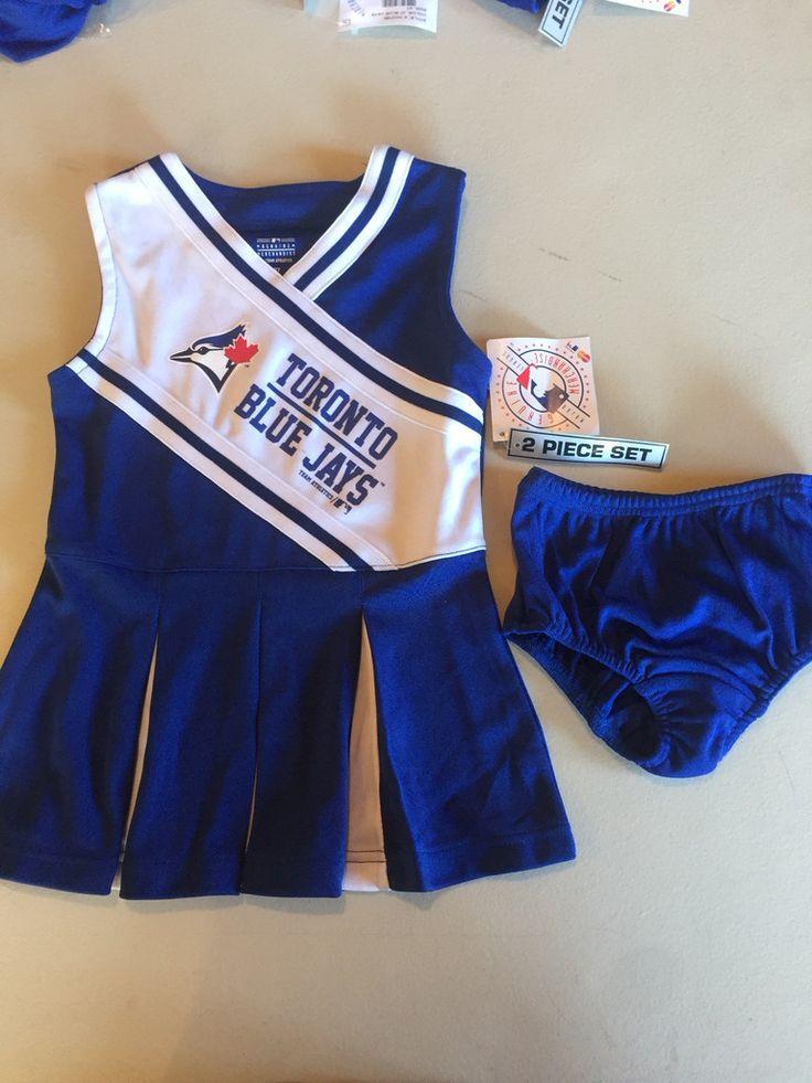 MLB Toronto Blue Jays Toddler Cheerleading Dress and Bloomers by Genuine Merchandise www.mancavesonline.com