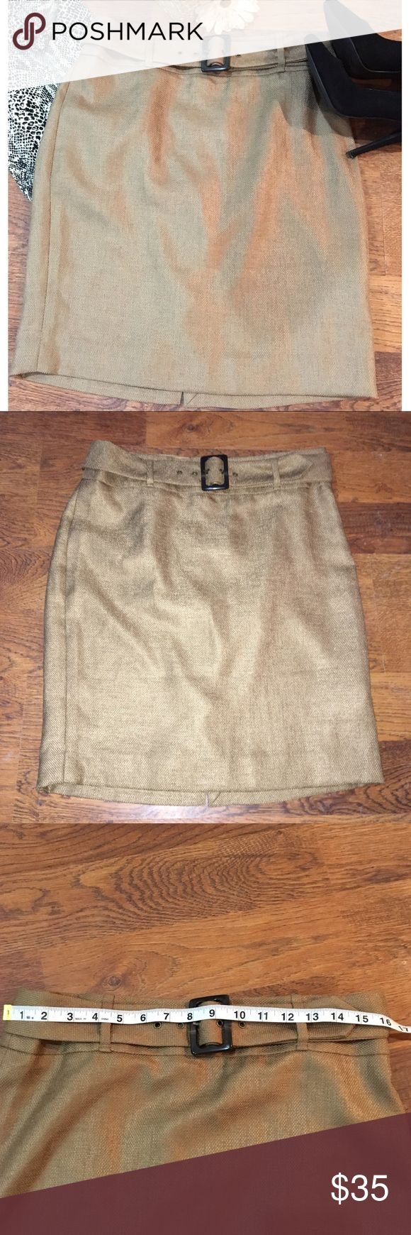 🆕 NWT Tan pencil skirt by The Limited Brand new never worn tan pencil skirt by The Limited. Thicker fabric, fully lined. Belt included. The Limited Skirts Pencil