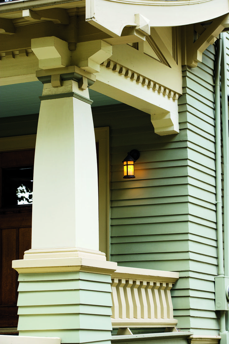 2070 best craftsman and bungalow houses images on for Decorative exterior columns for house