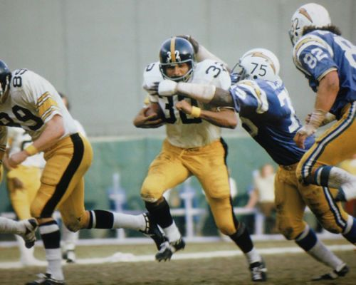 Franco Harris plows through some Chargers.