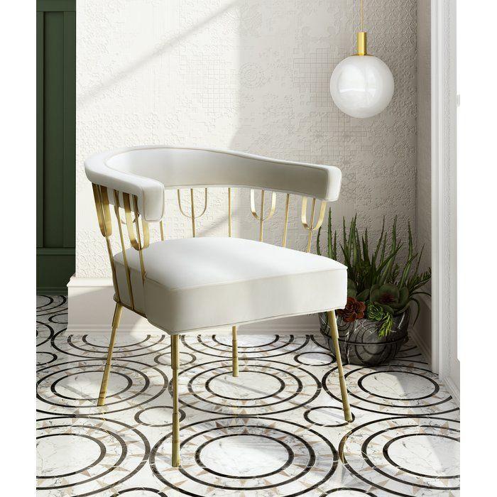 Mateus Barrel Chair Velvet Chair Furniture Velvet Accent Chair