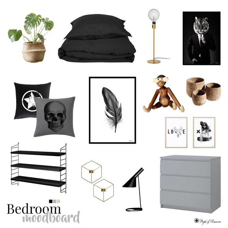 Bedroom moodboard./