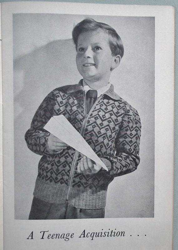 Vintage 1940s 1950s breien patronen voor vrouwen, mannen en kinderen  Dorothys derde boek van Fair Isle breiwerk ontwerpen Deel van de Lion serie - No 164 Een hard-to-find boekje gepubliceerd in de UK c.1950 (ongedateerd maar andere boekjes in deze reeks dateren uit c.1949/50)