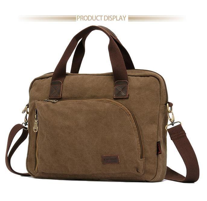 Kaukko Men Handbag Shoulder Bag Sling Bags Canvas Outdoor Gear Fashion New…