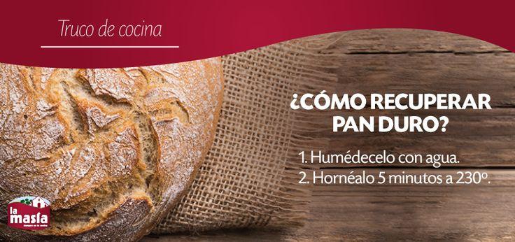 Recuperar pan duro y comerlo como recién hecho es posible. ¡Toma nota de este #trucodecocina! #truco