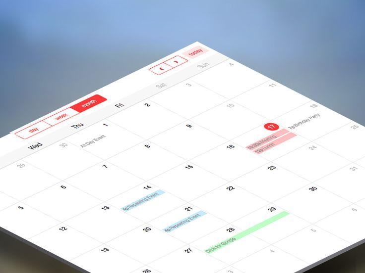 FREE Bootstrap Calendar Snippert