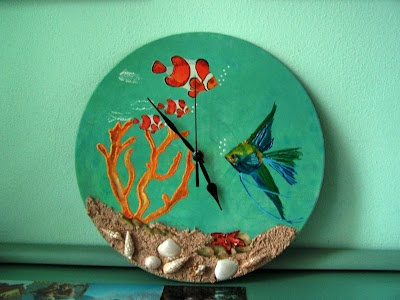 Recycled long play record: seabed clock