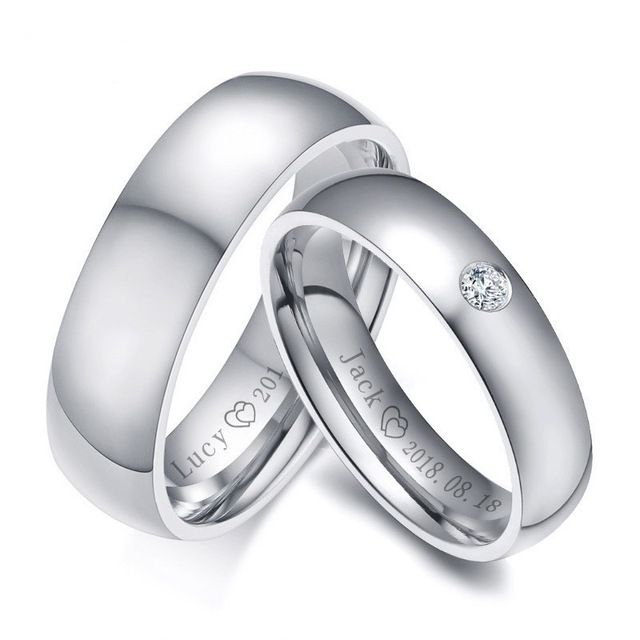 Wedding Band Engraved Wedding Ring Personalized Ring Engraved Promise Rings Custom Mans Ring Name Ring Personalized Gift Wedding Band