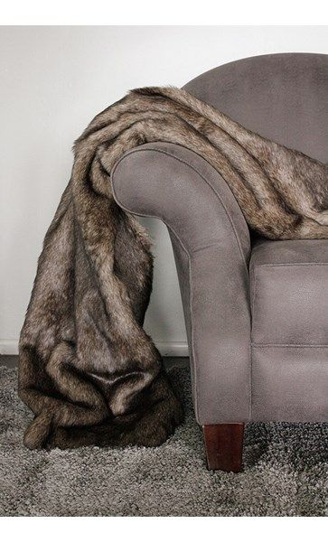 Grizzly Bear Faux Throw