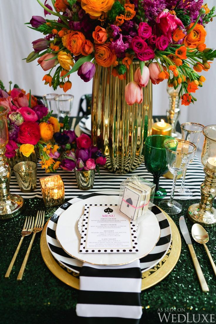 WedLuxe \u2013 Inspired by All Things Kate Spade | Photography by Corina V. Photography. Round Table SettingsRound TablesRound ... & 47 best Dinning room images on Pinterest | Centerpieces Fiesta ...