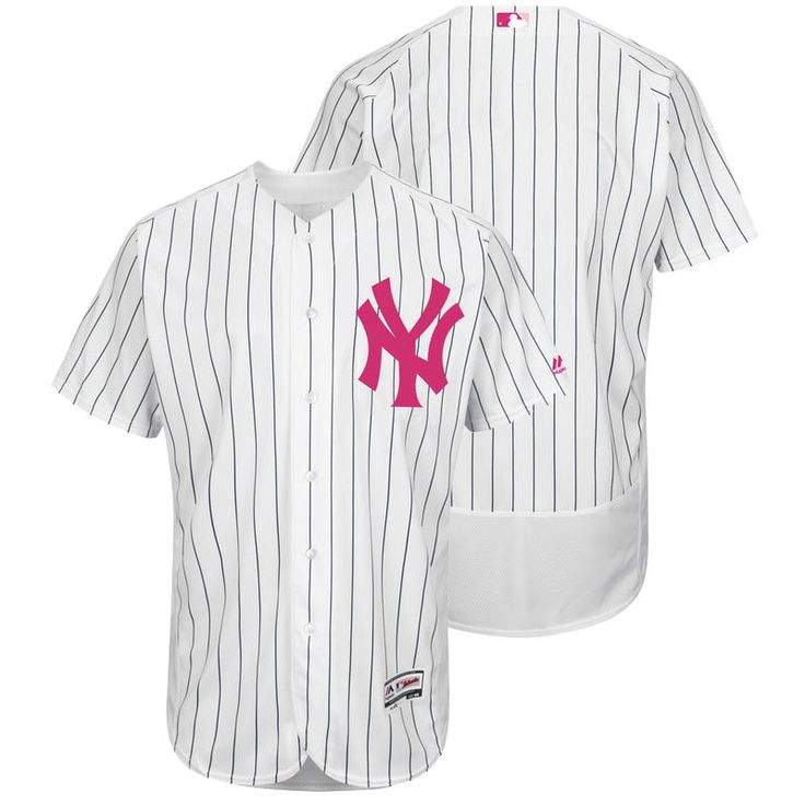 Men's MLB New York Yankees White 2016 Mother's Day Jersey