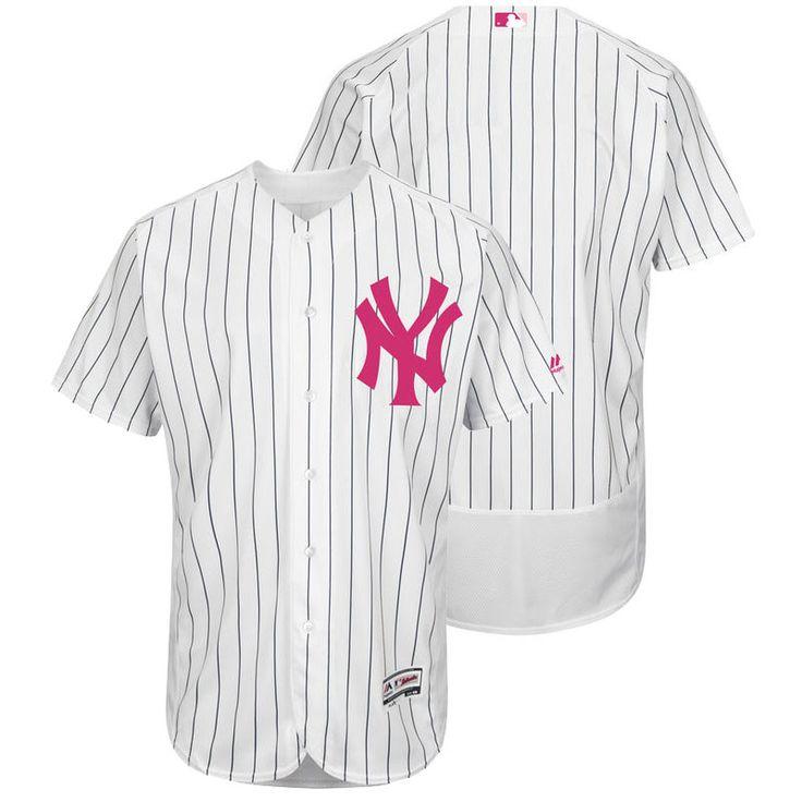 Men's MLB New York Yankees White 2016 Mother's Day Jersey