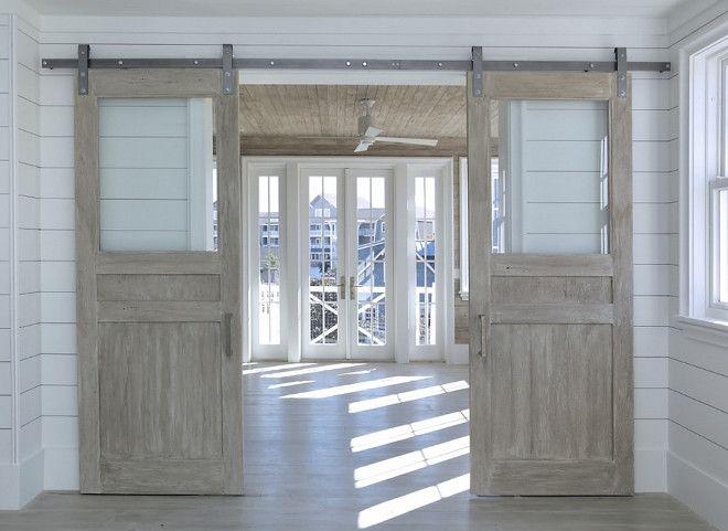 25 best ideas about rustic barn doors on pinterest for Interior glass barn door designs