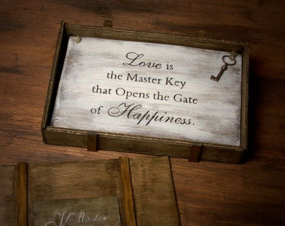 Decorative wooden board displaying the saying by ForMomentsinTime