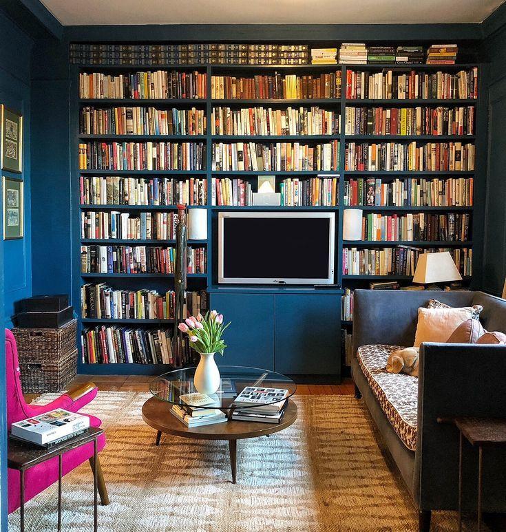 Living Rooms For Book Lovers Alison Kist Interiors Bookshelves In Bedroom Dark Living Rooms Home Library Design