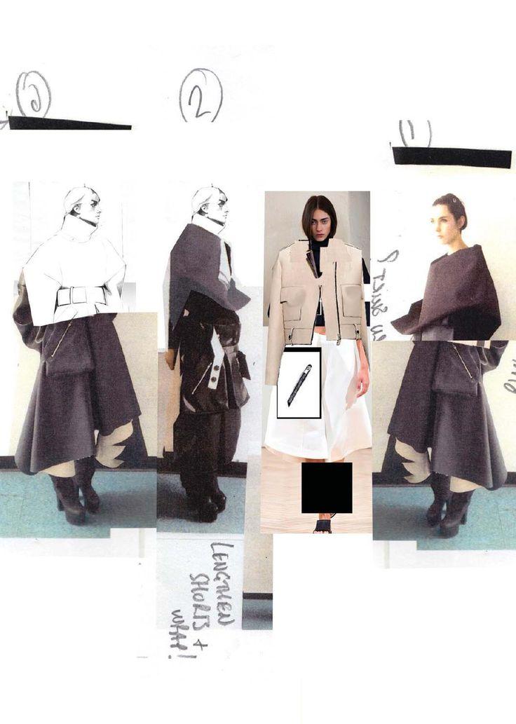 13. collage para conseguir la silueta deseada sobre el maniquí final