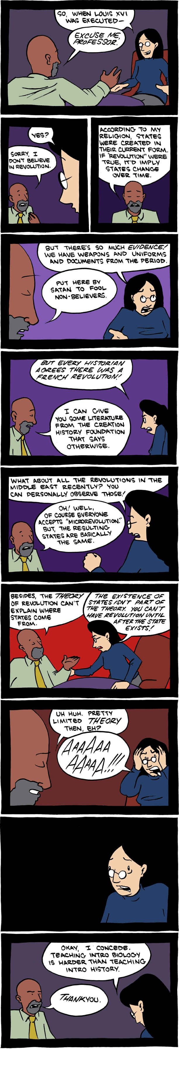 This is how the debate would've sounded if applied to history:   The Bill Nye Vs. Ken Ham Debate Summed Up In Comics